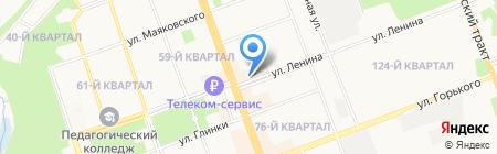 Брида на карте Ангарска