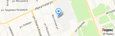 Осана на карте Ангарска