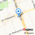 Средняя общеобразовательная школа №27 на карте Ангарска