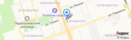 Колибри на карте Ангарска
