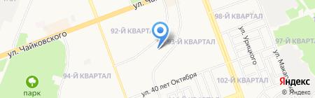 Нива на карте Ангарска