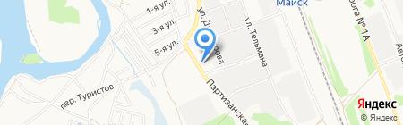 АЗС Майск на карте Ангарска