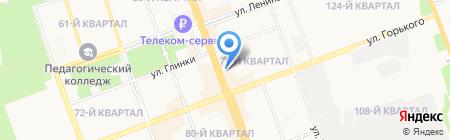 Пальмира на карте Ангарска