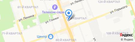 Васильевъ на карте Ангарска