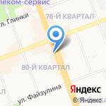 Лудус на карте Ангарска