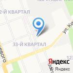 Автомойка на Восточной на карте Ангарска