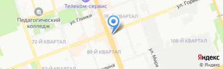Премьер на карте Ангарска