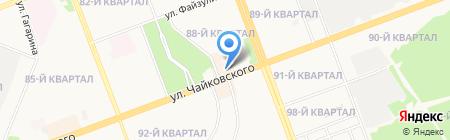 Акцент на карте Ангарска