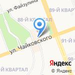 Сахарок на карте Ангарска