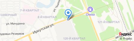 Шиномонтажная мастерская на ул. 120-й промквартал на карте Ангарска