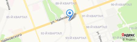 Курумкан на карте Ангарска