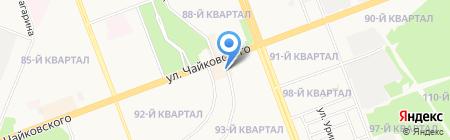 Автостоянка на ул. Чайковского на карте Ангарска