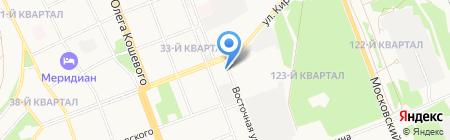 Автостанция на карте Ангарска