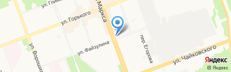 Карлен на карте Ангарска
