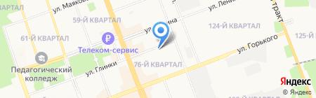 Ольхон на карте Ангарска