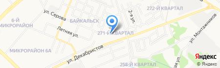 Продукты на ул. 271-й квартал на карте Ангарска