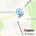 Ангарский трамвай на карте Ангарска