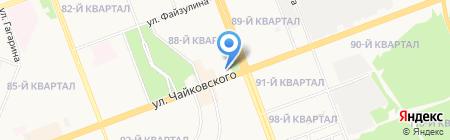 Юничел на карте Ангарска