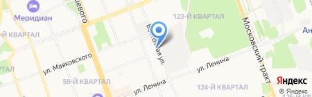 Служба муниципального хозяйства на карте Ангарска