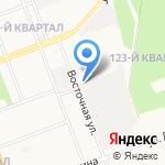 На Восточной на карте Ангарска