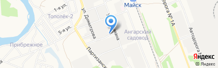 Шиномонтажная мастерская на ул. Связи на карте Ангарска