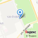 Монолит на карте Ангарска