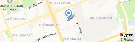 Крылатый на карте Ангарска