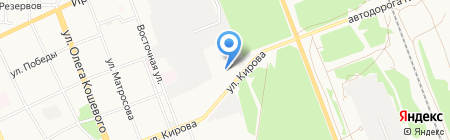 Автоколонна 1948 на карте Ангарска