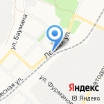 Тихий на карте Ангарска