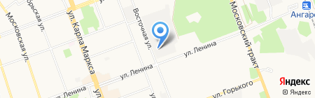 Автошик на карте Ангарска