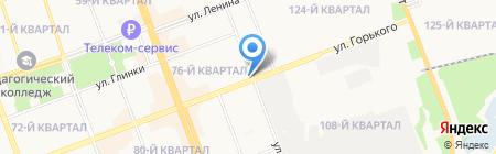 Мастерская по ремонту обуви на ул. 76-й квартал на карте Ангарска