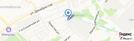 АЗС на ул. 278-й квартал на карте Ангарска