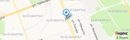 Байкальск на карте Ангарска