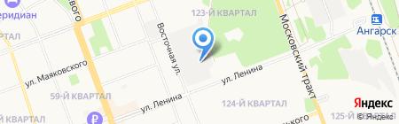 Форт на карте Ангарска