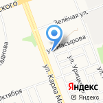 Ангарскхлебопродукт на карте Ангарска