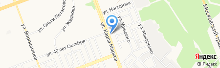 Надежное на карте Ангарска