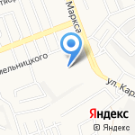 Онека-Ангарск на карте Ангарска