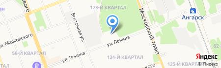 Ригла на карте Ангарска