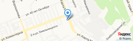 Место встречи на карте Ангарска