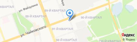 Алькор на карте Ангарска