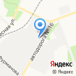 Байкальский газобетон на карте Ангарска