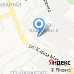 Московский на карте Ангарска