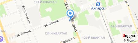АЗС РосНефть на карте Ангарска