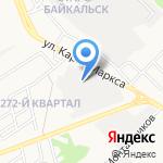 Пункт технического осмотра на карте Ангарска