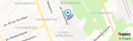 Байкал на карте Ангарска