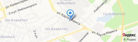 Щит на карте Ангарска