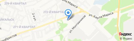 АЗС ФастОйл на карте Ангарска