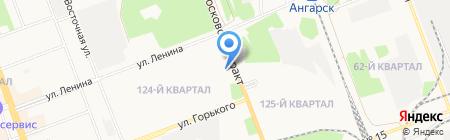 Елки-палки на карте Ангарска