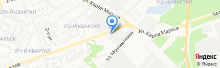 Автосервис на ул. Декабристов на карте Ангарска