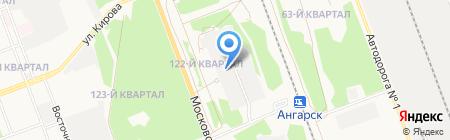 Привокзальный-3 на карте Ангарска